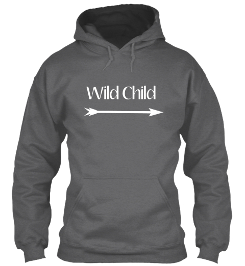 Wild Child Dark Heather Sweatshirt Front