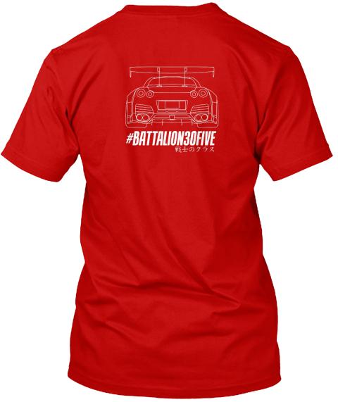e22dee0eb Battalion30five club merchandise.  Battalion30 Five Classic Red T-Shirt Back