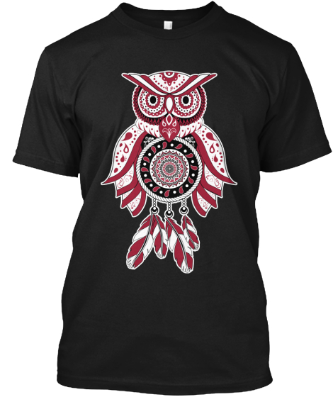 Cherry And White Owl Tshirt T-Shirt Front