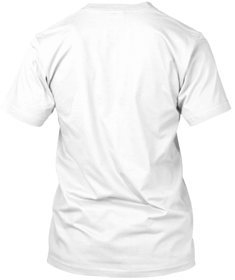 Funny Meditation White T-Shirt Back