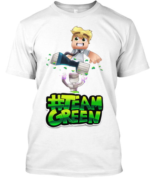 #Team Green White T-Shirt Front