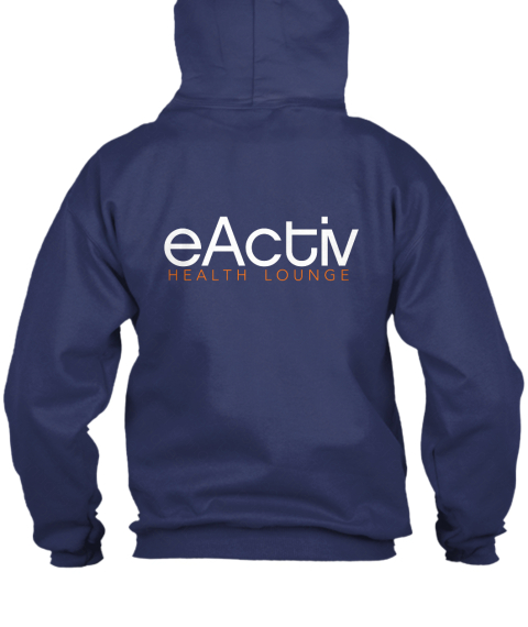 E Activ Zip Up Hoodie Navy  Maglietta Back
