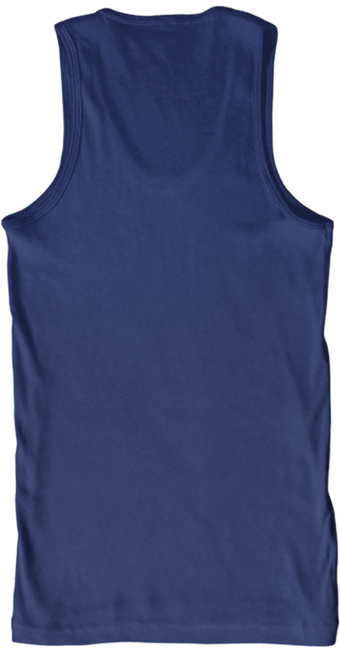 Old Man With A Motorcylce   Tanktop Navy Tank Top Back