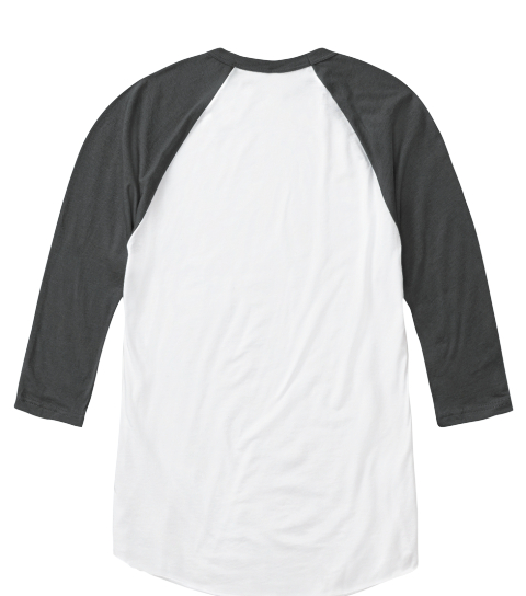 Royal Saint Baseball Shirt White/Asphalt   Long Sleeve T-Shirt Back