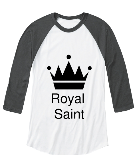 Royal Saint White/Asphalt   Long Sleeve T-Shirt Front
