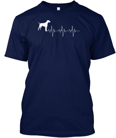 Pointer Navy T-Shirt Front