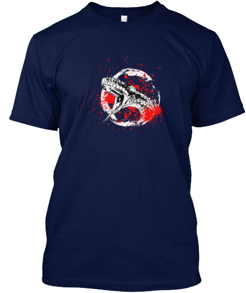 Poison Snake Navy T-Shirt Front
