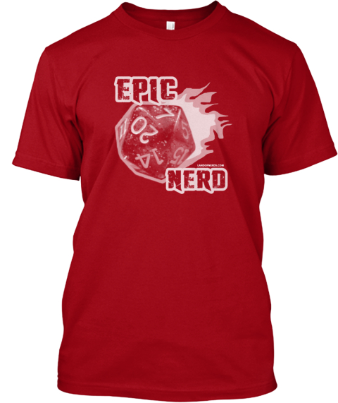 Away Team Red: Epic Nerd T Shirt Deep Red T-Shirt Front