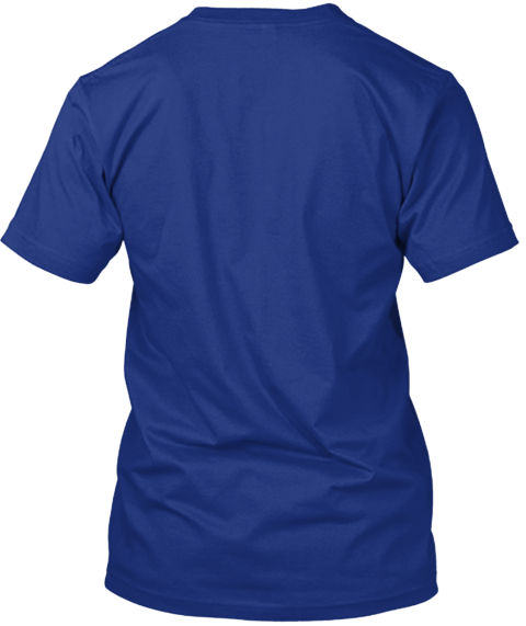 Tardis Blue: Epic Nerd T Shirt Deep Royal T-Shirt Back