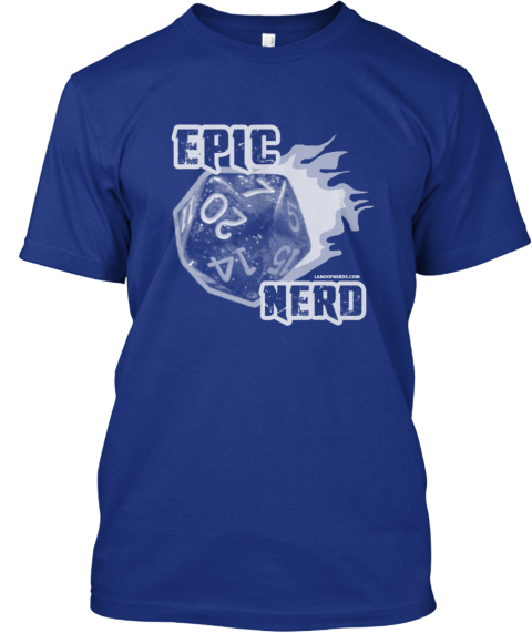 Tardis Blue: Epic Nerd T Shirt Deep Royal T-Shirt Front