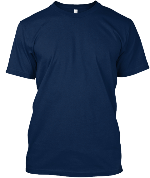 Uganda Begins In Ca Navy T-Shirt Front