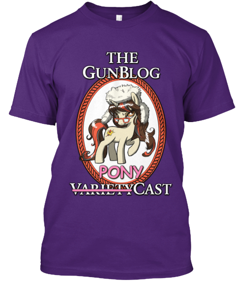 The Gunblog Pony Variety Cast Purple T-Shirt Front