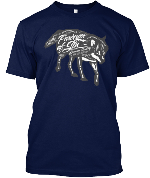 Wolf Quotes 3 Navy T-Shirt Front
