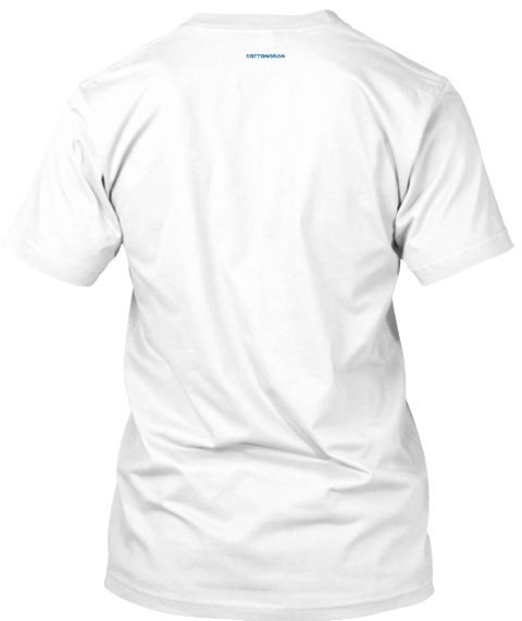 Cotton Gram White T-Shirt Back