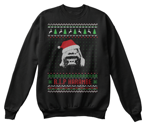 R.I.P Harambe Ugly Christmas Sweater!! - RIP harambe Products ...