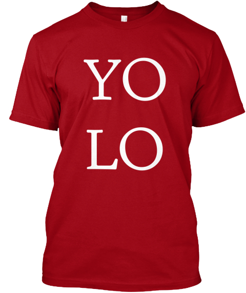 Yo%0 Alo Deep Red T-Shirt Front