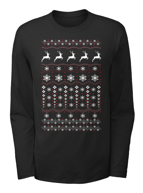 best christmas shirts black long sleeve t shirt front