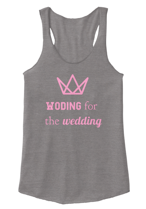 Woding For The Wedding Eco Grey Women's Tank Top Front