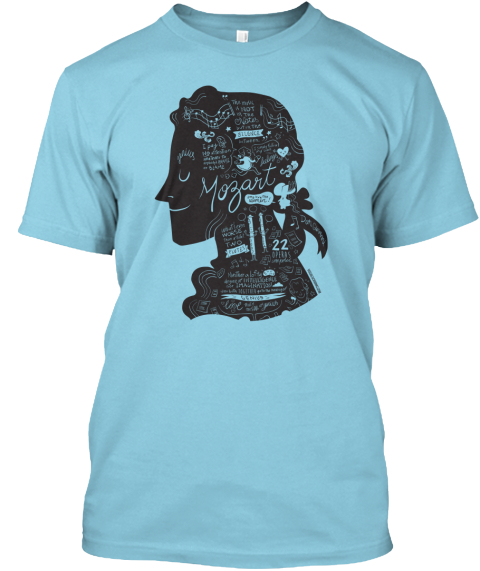 Mozart 22  Light Blue T-Shirt Front