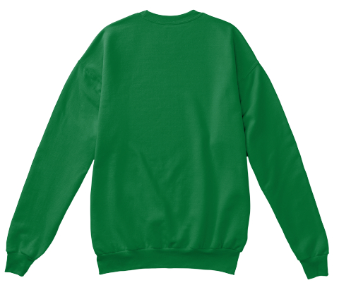 Merry Christmas &Amp; Happy New Year  Kelly Green  Sweatshirt Back