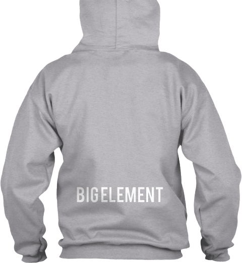 Big Element Sport Grey Sweatshirt Back