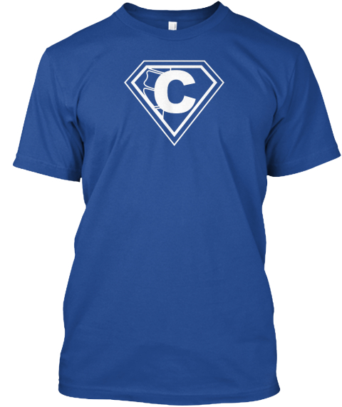 C Caponio Chiropractic We Got Your Back Deep Royal T-Shirt Front
