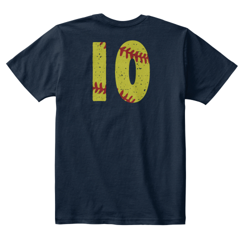 10 New Navy T-Shirt Back