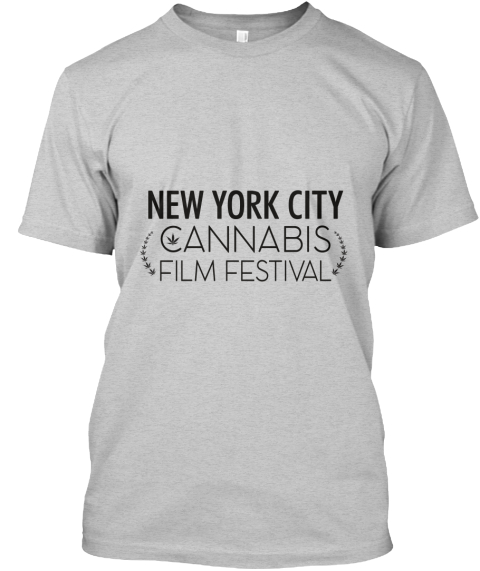 New York City Cannabis Film Festival Light Steel T-Shirt Front