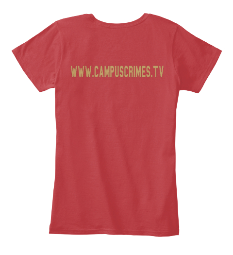 Www.Campuscrime.Tv Classic Red Women's T-Shirt Back
