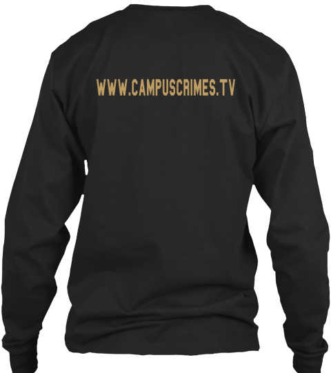 Www.Campuscrimes.Tv Black Long Sleeve T-Shirt Back