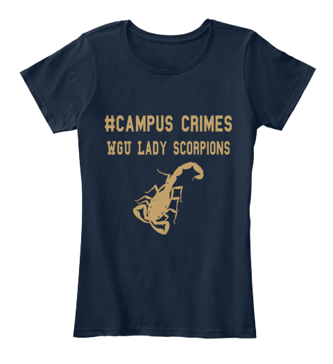 #Campus Crimes Wgu Lady Scorpions New Navy Women's T-Shirt Front