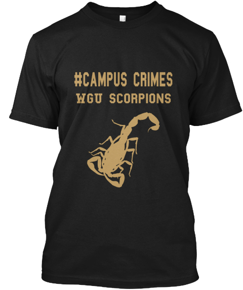 # Campus Crimes Wgo Scorpions Black T-Shirt Front