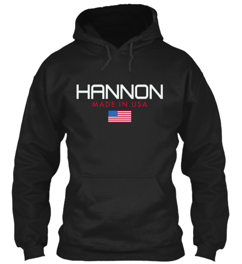 Hannon Made In Usa Black T-Shirt Front