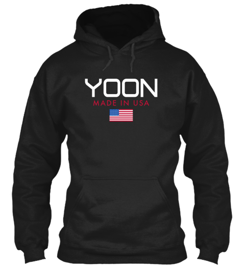 Yoon Made In Usa Black T-Shirt Front