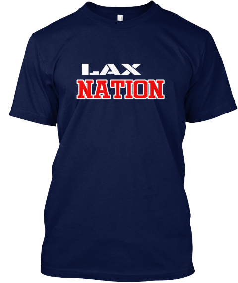 Usa Lax Nation  Navy T-Shirt Front