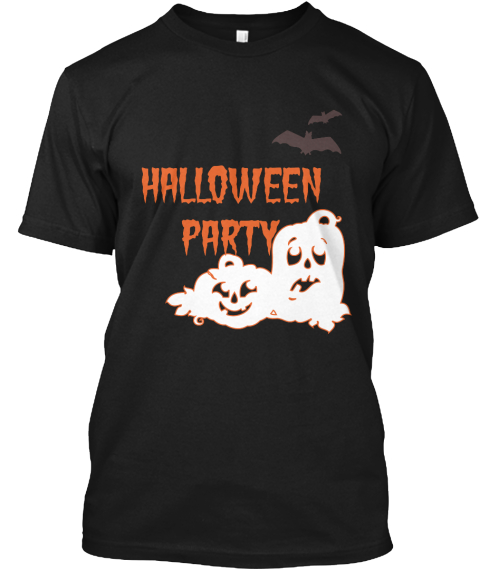 Halloween Party Black T-Shirt Front