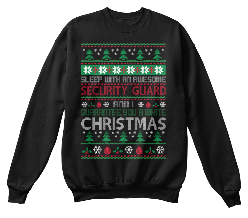 UGLY SWEATER SECURITY GUARD T SHIRTS
