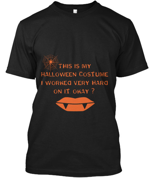 This Is My Halloween Black T-Shirt Front