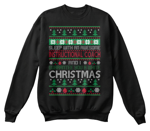 Ugly Sweater Instructional Coach T Shirts Sleep With An Awesome