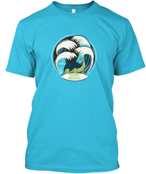 Ros Hydromedusa Release Tshirts Turquoise T-Shirt Front