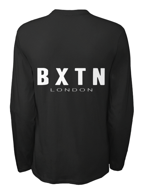 Bxtn London Black Long Sleeve T-Shirt Back