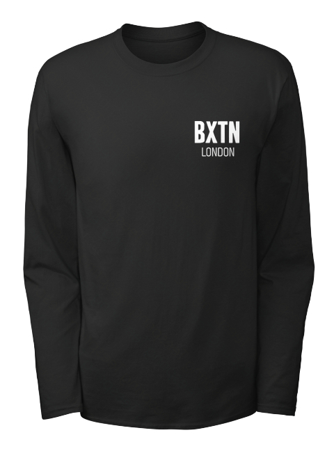 Bxtn London Black Long Sleeve T-Shirt Front