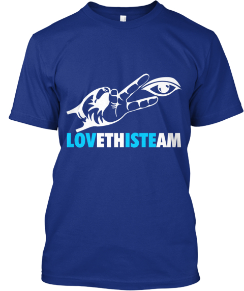 Lo Veth Ist Eam Shirt Deep Royal T-Shirt Front