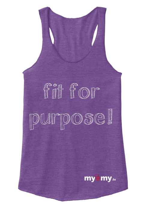 Fit For Purpose My My.Tv Eco True Purple  Women's Tank Top Front