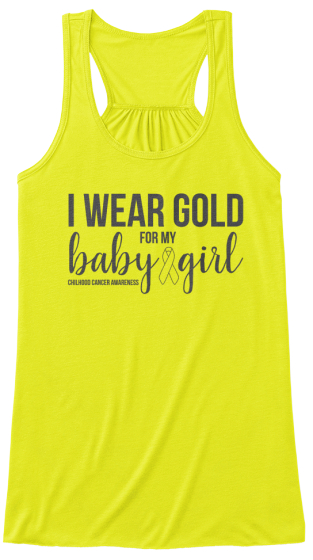 I Wear Gold For My Baby Girl Women's Tank Top Front