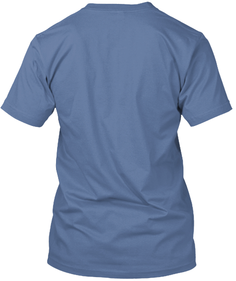 Awesome Batts T Shirt Denim Blue T-Shirt Back