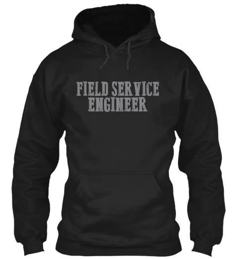Field Service Engineer Bamf Black T-Shirt Front