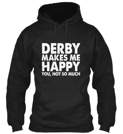 Roller Derby Happy Black T-Shirt Front