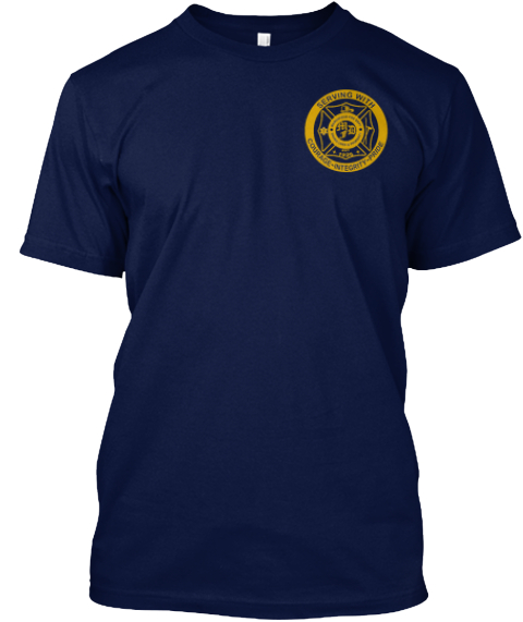 Firefighter Down!! Navy T-Shirt Front