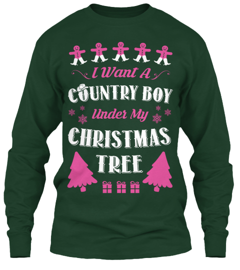 8 Country Boy Xmax Ugly Sweater I Want A Country Boy Under My